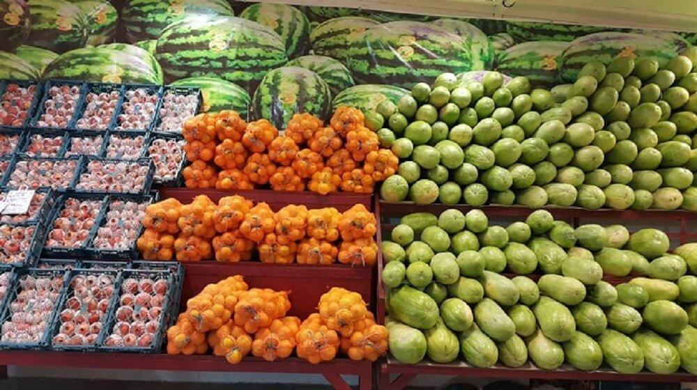 قیمت میوه و صیفیجات در مرکز عمده فروشی